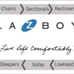 LA-Z-BOY furniture display ad